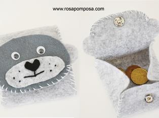 Mini porta moedas urso