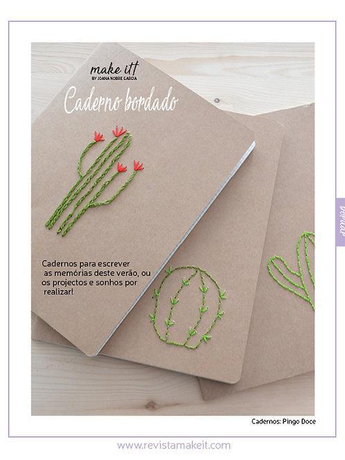 Caderno bordado