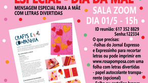 Workshop on-line Especial Dia da Mãe 01/5-15H