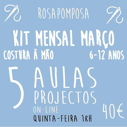 Quinta-feira 18h Kit  costura à mão Março