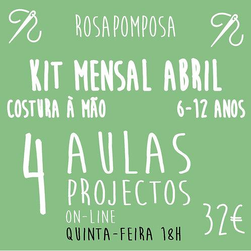 Quinta-feira 18h Kit  costura à mão Abril