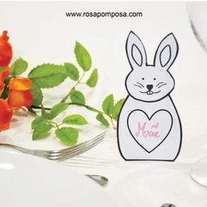 Coelho marcador de mesa