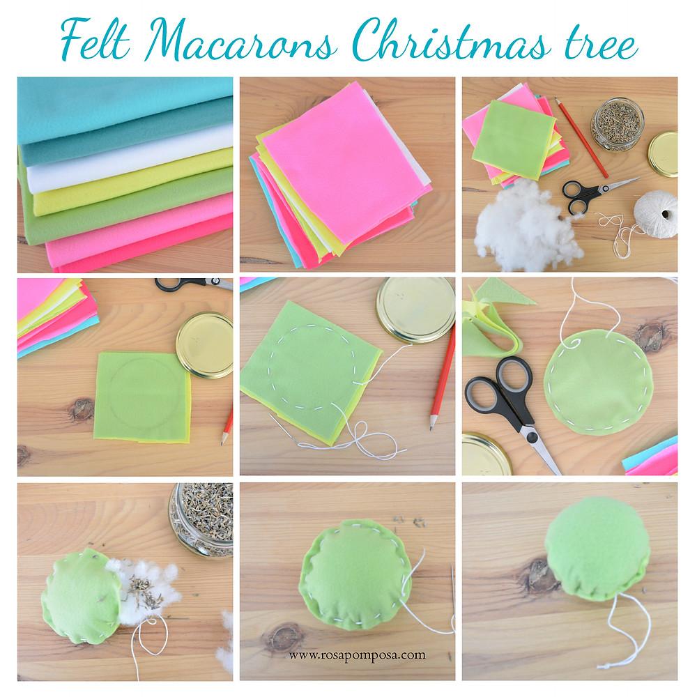MACARONS DE FELTRO FELT DIY ROSAPOMPOSA