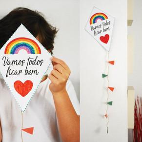 Papagaio de papel com mensagem