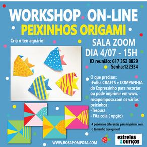 Workshop on-line Peixinhos em Origami 4/07-15H