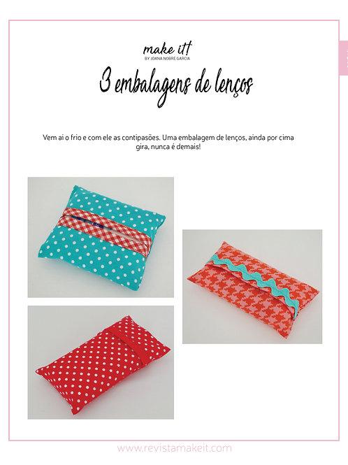 3 bolsas de lenços