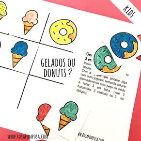 Gelados e donuts