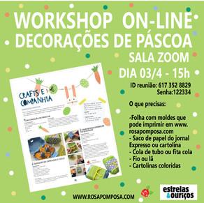 Workshop on-line Especial Páscoa 03/4-15H