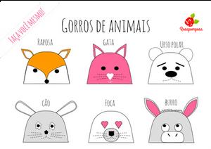 Gorros de animais Joana Nobre Garcia