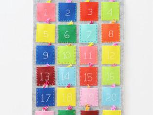 Calendário do advento em feltro