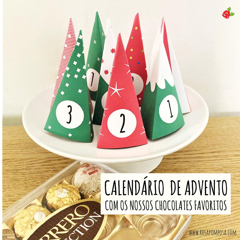 calendário de advento com os nossos chocolates favoritos