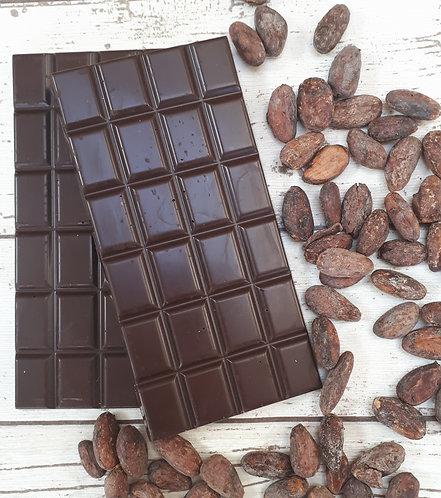 Single origin dark chocolate bar