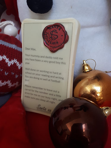 Personalised letter from Santa bar