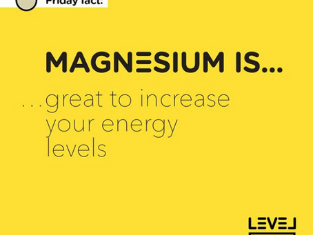 Magnesium... is great to increase your energy levels