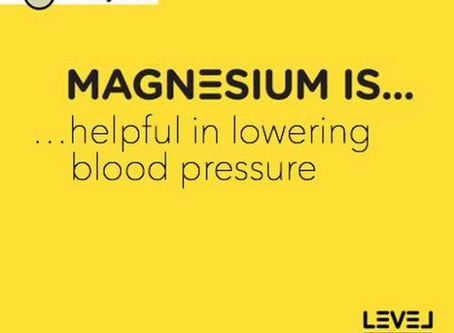 Magnesium is... helpful in lowering blood pressure