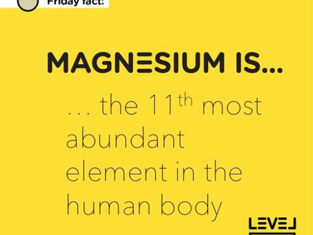 Magnesium... is the 11th most abundant element in the human body