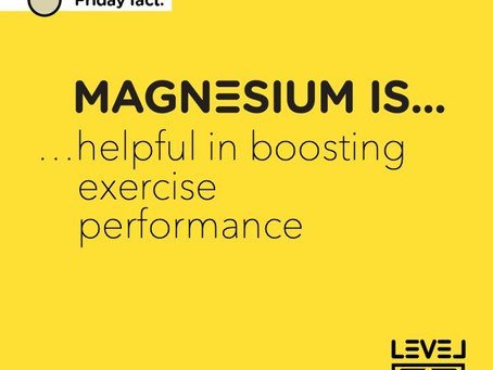 Magnesium is... helpful in boosting exercise performance