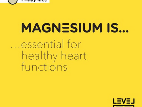 Magnesium... is essential for healthy heart functions