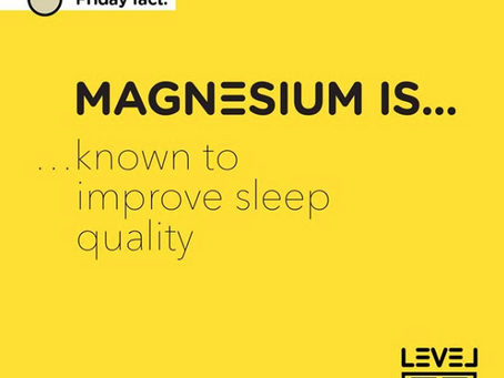 Magnesium... is known to improve sleep quality