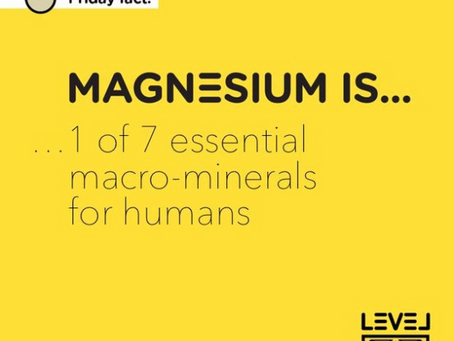 Magnesium... is 1 of 7 essential macro-minerals for humans