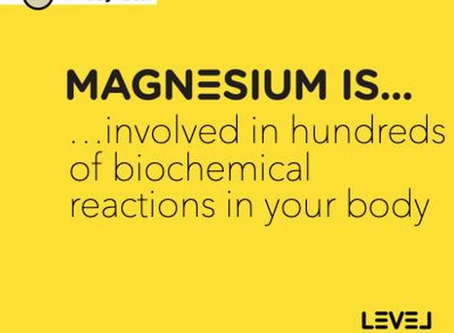 Magnesium is... involved in hundreds of biochemical reactions in your body