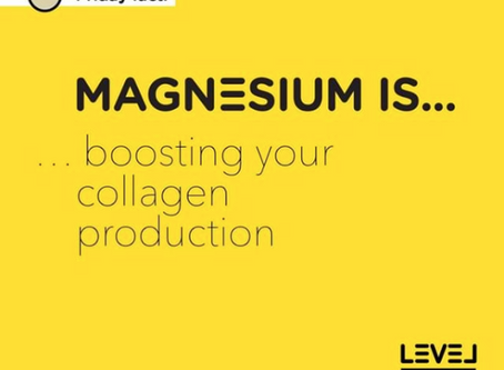 Magnesium... is boosting your collagen production