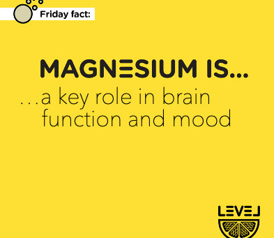 Magnesium is... a key role in brain function and mood