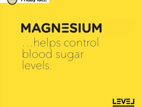 Magnesium... helps control blood sugar levels