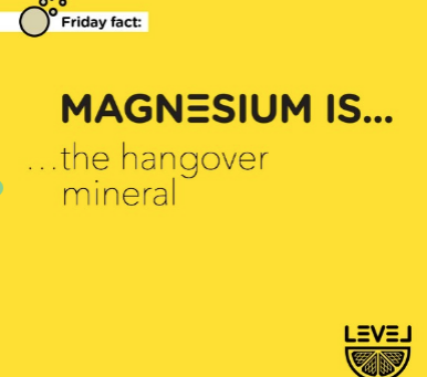 Magnesium is... the hangover mineral