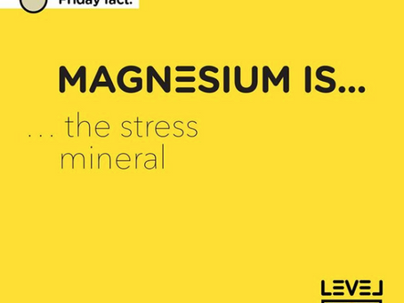 Magnesium... is the stress mineral
