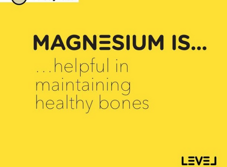 Magnesium is... helpful in maintaining healthy bones
