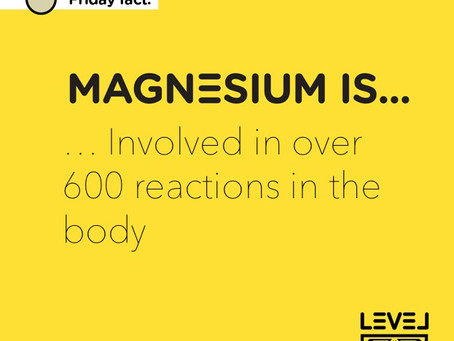 Magnesium... is involved in over 600 reactions in the body