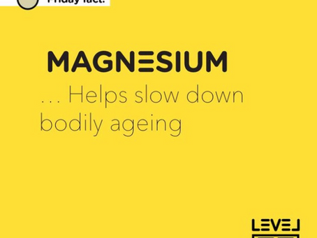 Magnesium... helps slow down body ageing