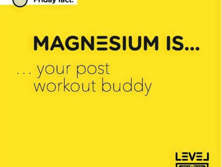 Magnesium is... your post workout buddy