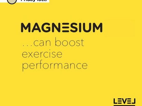 Magnesium... can boost exercise performance