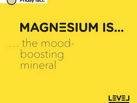 Magnesium... is a mood-boosting mineral