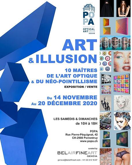Affiche Art&Illusion POPA novembre 2020.