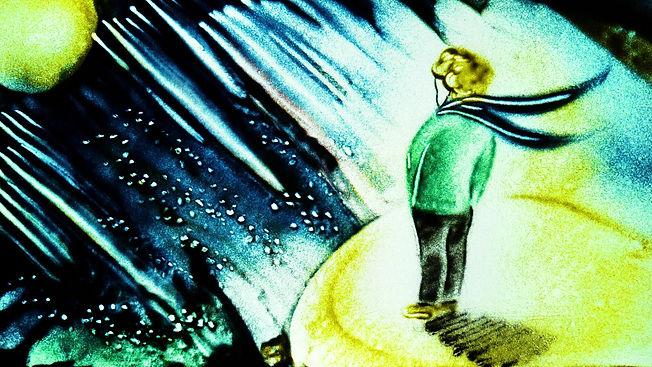 Сказка на песке Маленикий принц с озвучкой