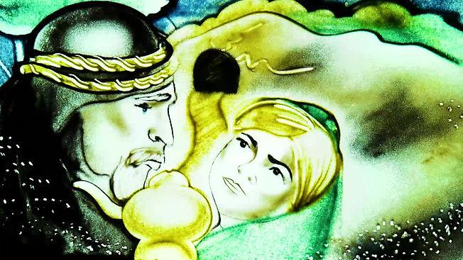 Сказка на песке Алладин с озвучкой