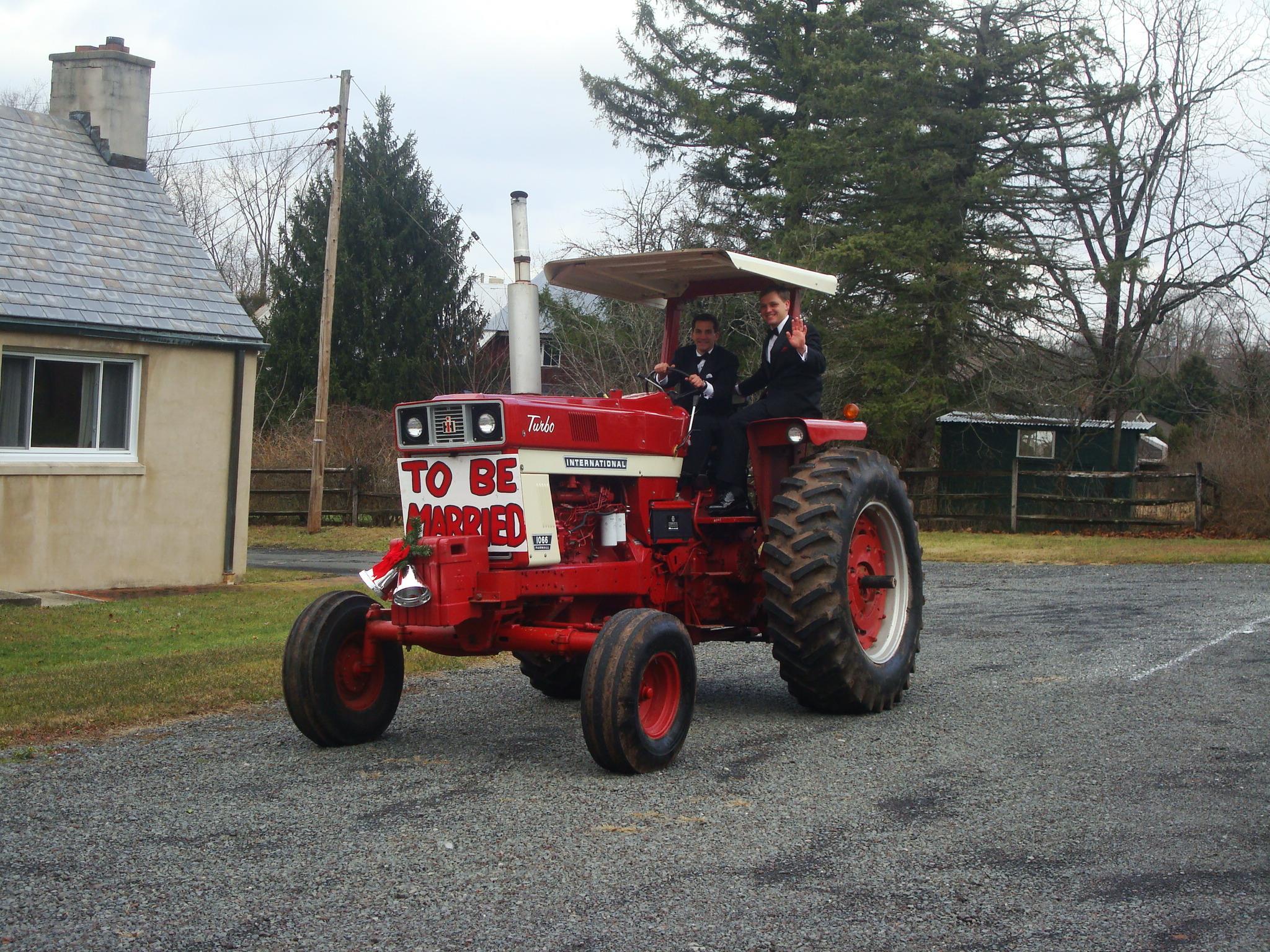 cory christian tractor wedding
