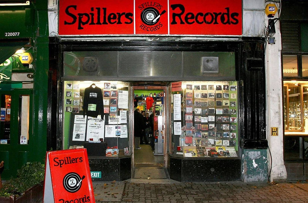 Spillers Records in Cardiff, Wales, the world's oldest record store.