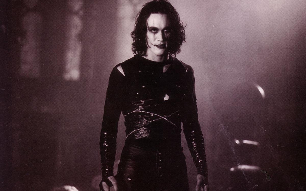 """Brandon Lee in """"The Crow."""""""