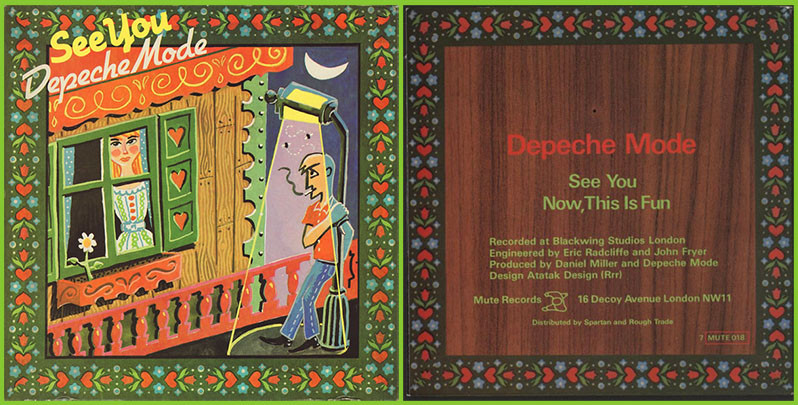 """45-RPM Jacket for Depeche Mode's """"See You"""" / """"Now This Is Fun"""""""