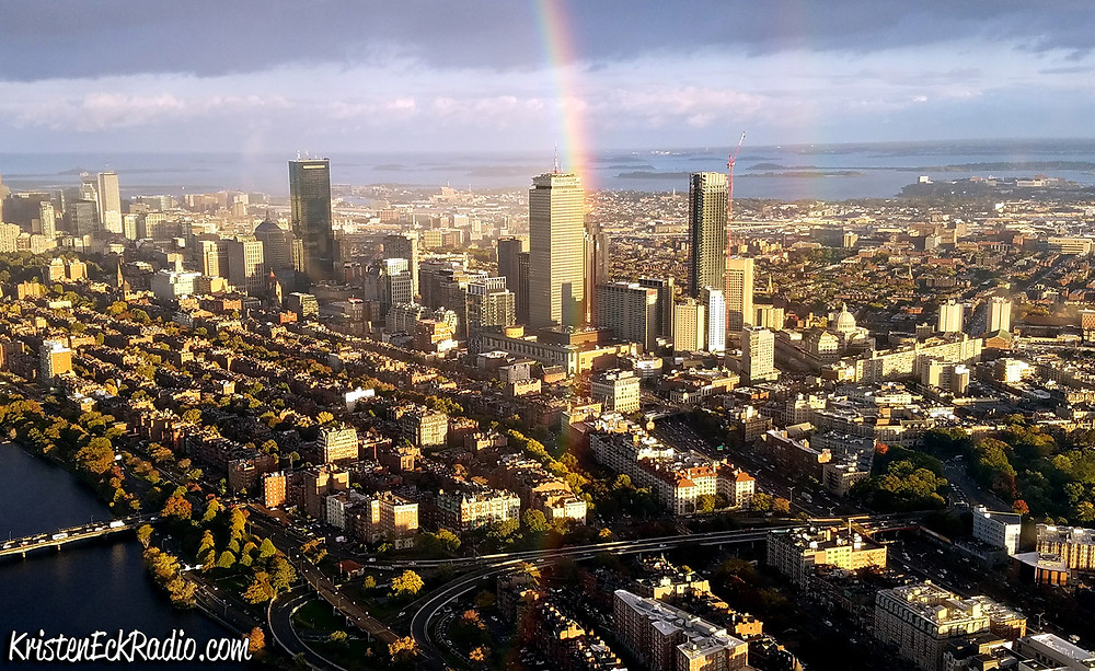 Rainbow over Boston by Kristen Eck