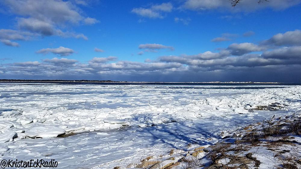 Sea ice on Barnstable Harbor