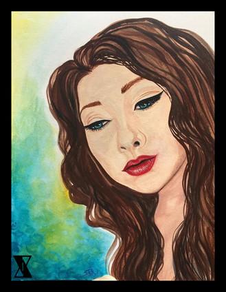 Woman Looking Down in Watercolor.jpg