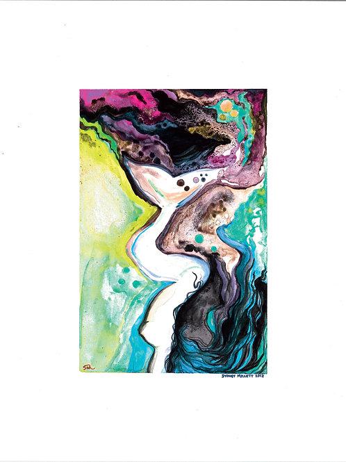 Mermaid Swirl Print