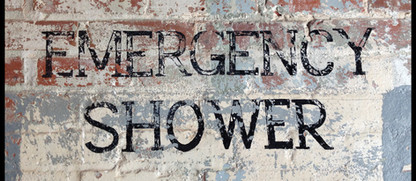 Emergency Shower sign-rustic-weathered-h