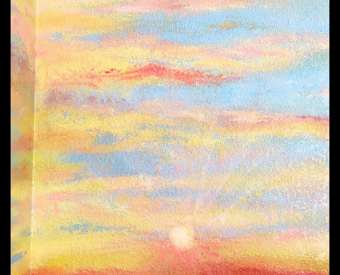 -sunset-beach-mural-closeup-sun-clouds-v