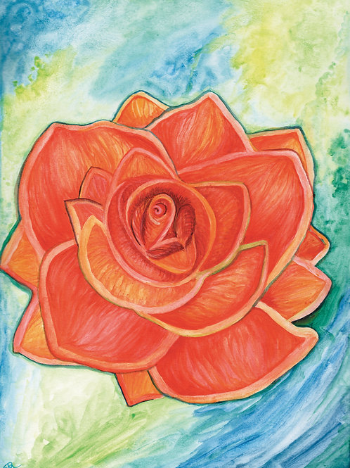 Rose for Rebecca Print